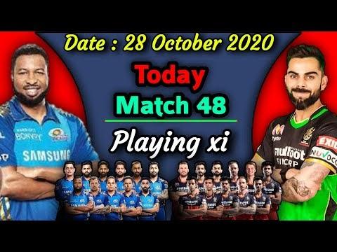 IPL 2020 - Match 48 | Royal Chellengers vs Mumbai Indians Playing xi | RCB vs MI Match Playing 11
