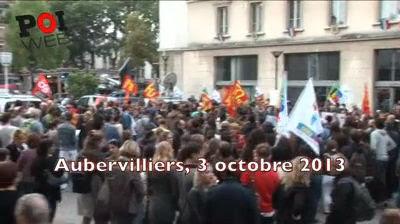 Rassemblement à Aubervilliers contre la réforme Peillon