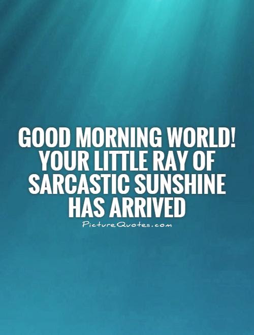 Good Morning World Your Little Ray Of Sarcastic Sunshine Has