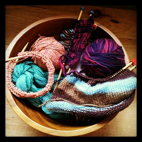 Getting my #knit on! Lots of holiday gifts on the needles. #knitstagram #knitting #knitsofinstagram #yarn #fall