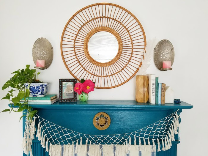 Decorating for Spring: Bohemian Spring Mantel