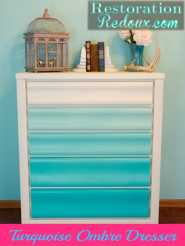 Turquoise Ombre Painted Dresser Daily Dose Of Style
