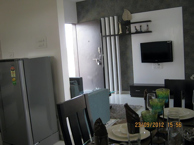 Dining - Show flat of Pristine City, 20 Acre Township of 1 BHK & 2 BHK Flats at Bakori - Wagholi, Pune 412 207