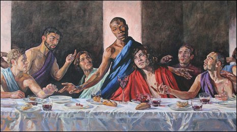 Bbc The Last Supper Painting On Display In Gloucestershire