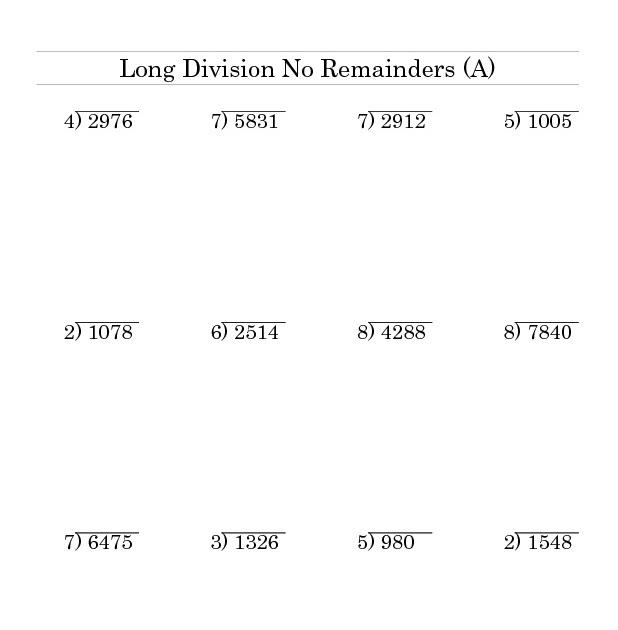 Division With 2 Digit Divisors Worksheet - Download Worksheet