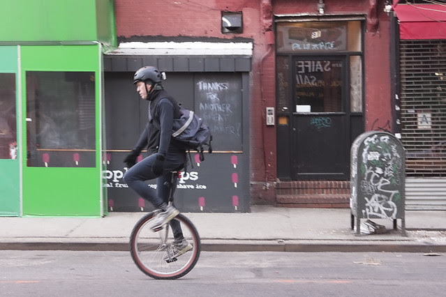 Unicycle, NYC