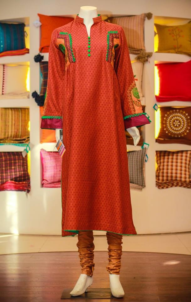 Casual-Lawn-Womens-Girls-Kurta-Kurti-Collection-2013-by-Thredz-for-Ladies-5