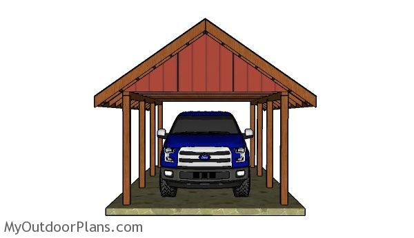 How to Build a Carport Gable Roof   MyOutdoorPlans   Free ...