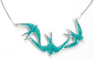 Turquoise Swallow Pendant