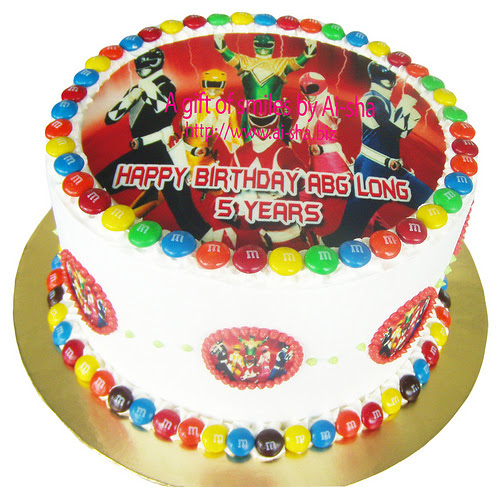 Rainbow Cake Edible Image Power Rangers
