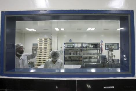 Un laboratorio del Centro de Investigación Natco, al sur de la India.   Reuters