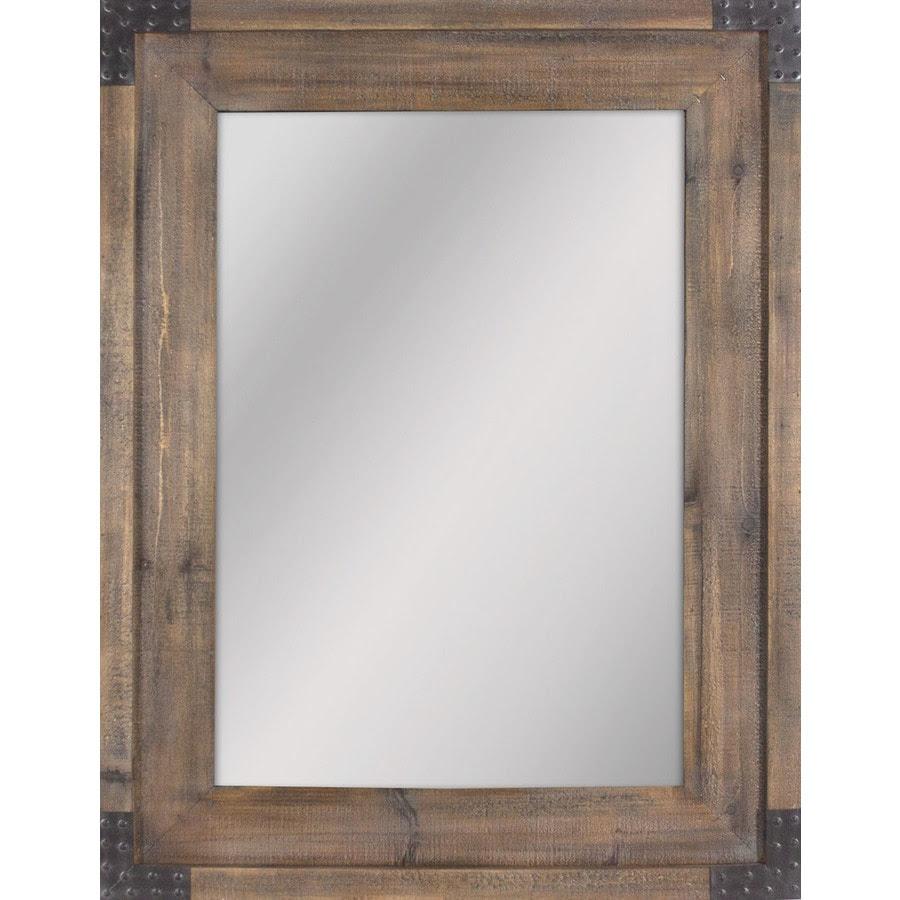 Shop allen + roth 30.31-in x 40.55-in Reclaimed Wood ...