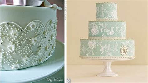 Lace Piping   Part 2 of Lace Wedding Cakes
