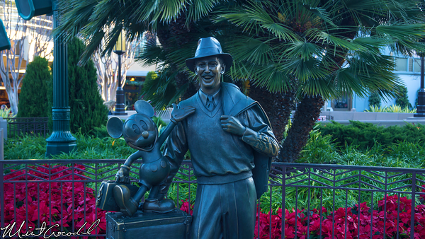 Disneyland Resort, Disney California Adventure, Walt, Disney, Mickey, Mouse, Statue, Buena Vista Street