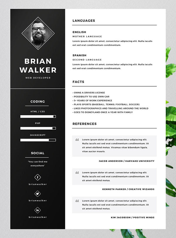 confusedsky  free resume template in word
