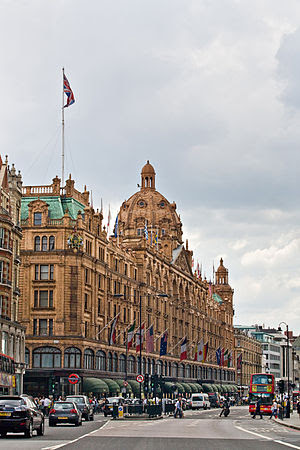 Harrods Department Store as viewed from the no...