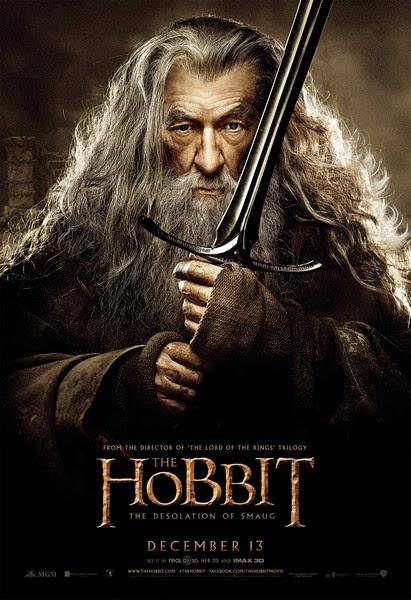 Le Hobbit la Desolation de Smaug Poster Gandalf أكثر 20 فيلم تعرّضاً للقرصنة في 2014