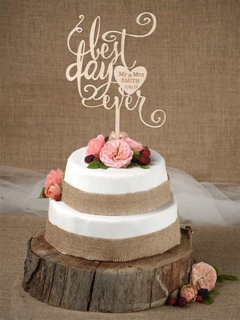 Rustic Cake Topper, Wedding Custom Cake Topper, Wood Cake