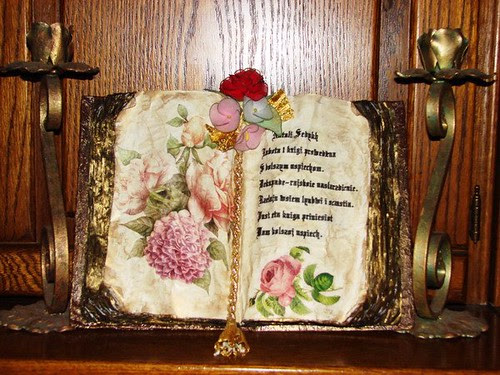 """""""Old"""" book with decoupage"""
