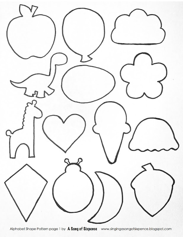Simple Animal Shapes Coloring Home Coloring Pages