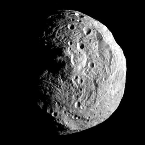 An image of asteroid Vesta that was taken by the Dawn spacecraft on July 17, 2011.
