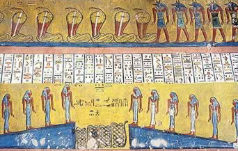Part of the Book of Gates from the tomb of Ramesses IV