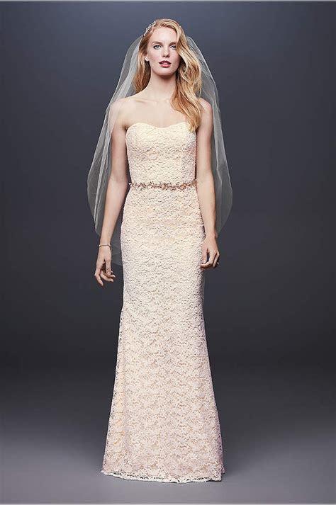 White by Vera Wang Lace Illusion Wedding Dress   David's