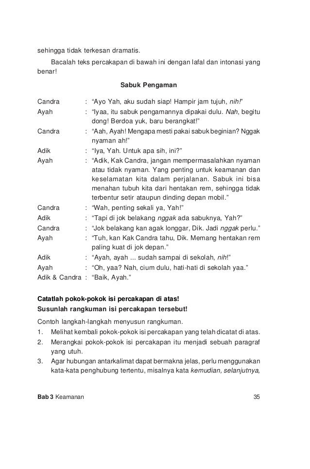 Contoh Percakapan 2 Orang Dalam Bhs Indonesia Answerplane Com