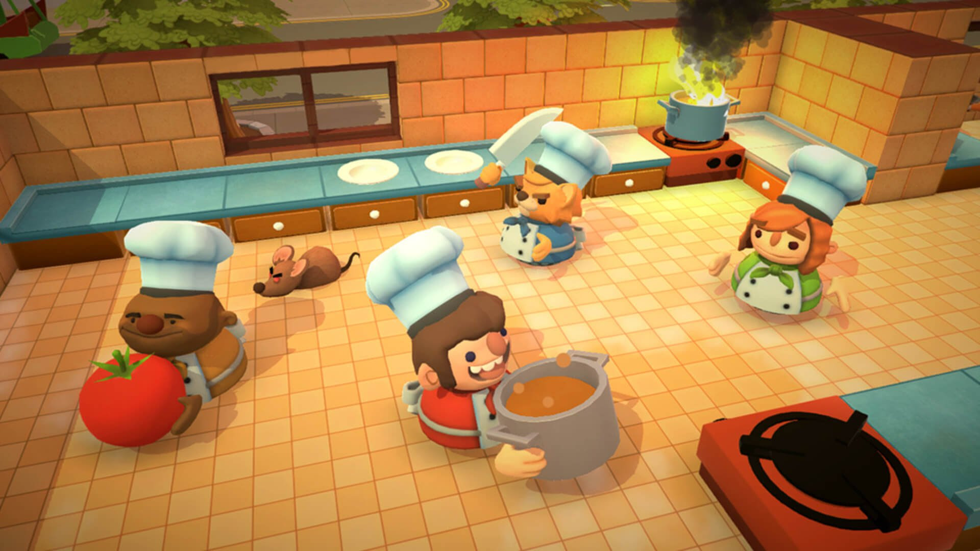 I foresee many a Joy-Con being broken when Overcooked hits Switch screenshot