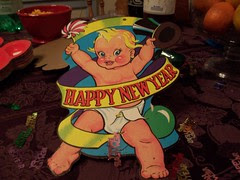 New Year's Baby with Top Hat
