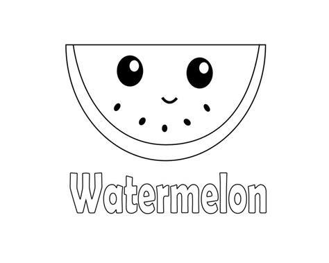 Cute Watermelon Coloring Page Creative Art