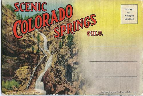 Colorado Springs postcard folder