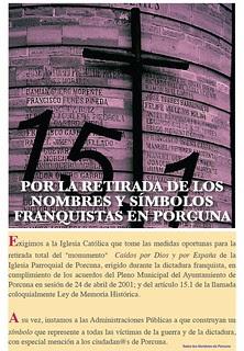 Por la retirada de símbolos franquistas en Porcuna