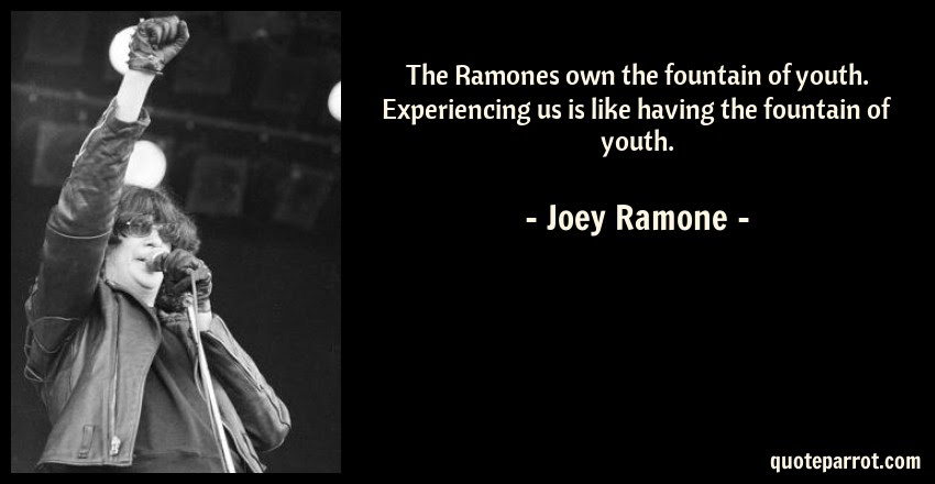 The Ramones Own The Fountain Of Youth Experiencing Us By Joey