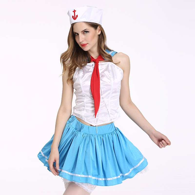 NEW  Sexy Sailor Costume For Woman Dress Cosplay Costume Girls Navy Uniforms Lady Sexy Lingerie Set Hall