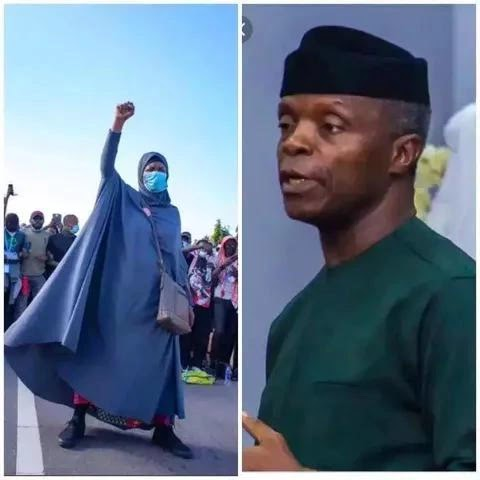 EndSars: The Moment After Vice President Osinbajo Apologized to Nigerians, Check what Aisha Yesufu told him that got Reactions.
