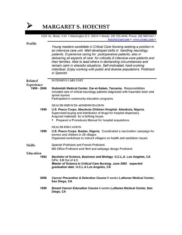 resume unfinished degree example