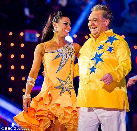 Fim da estrada: The 60-year-old e seu parceiro de dança Flavia Cacace foram votados fora do show dançando BBC último fim de semana