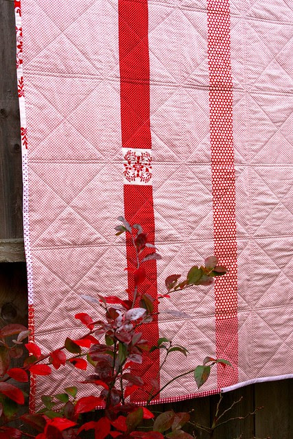 Red Quilt Back
