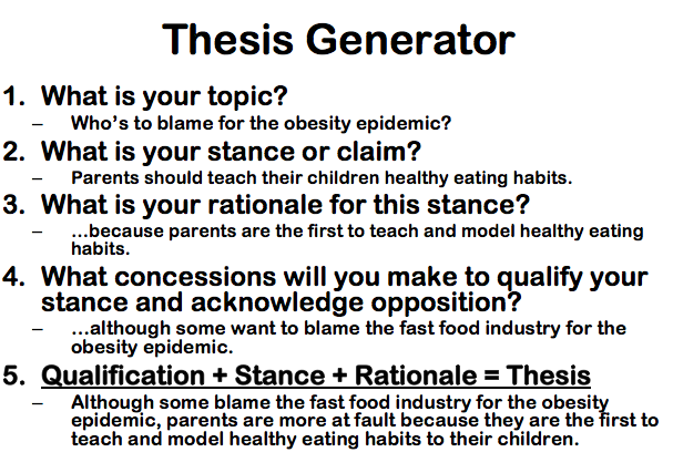 writing a good thesis statement using a triangle