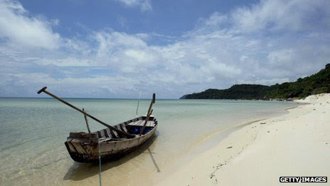 A deserted beach on Phu Quoc