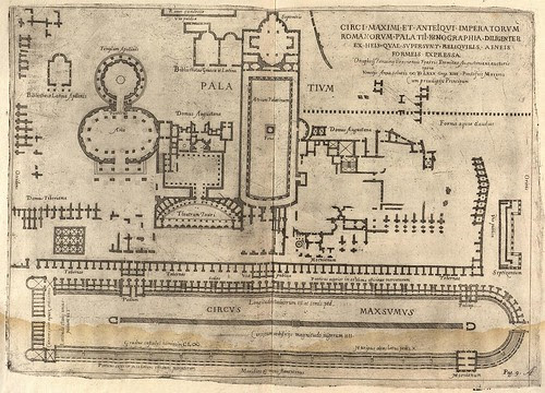 ground plan of ancient Roman Circus Maximus