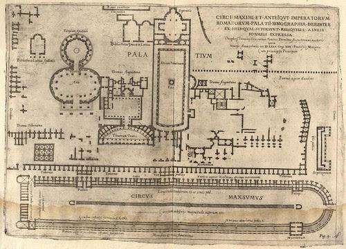ground plan of ancient Roman Circus Maximus