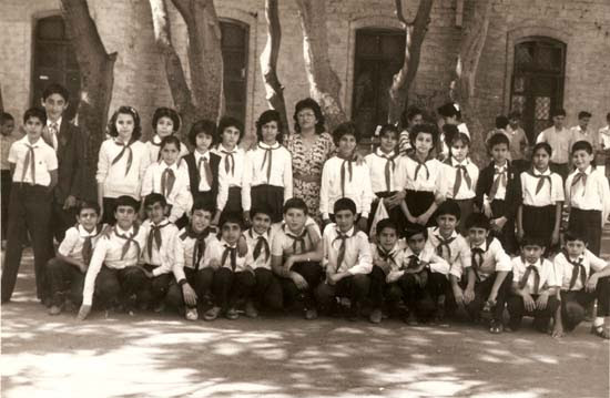 Baku public school No.132 courtyard, 1988