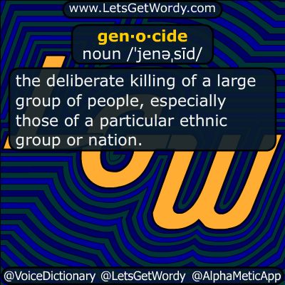 genocide 04/25/2016 GFX Definition
