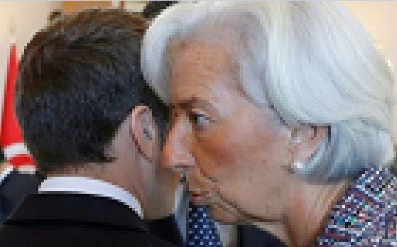 E.Macron et C.Lagarde, directrice du FMI