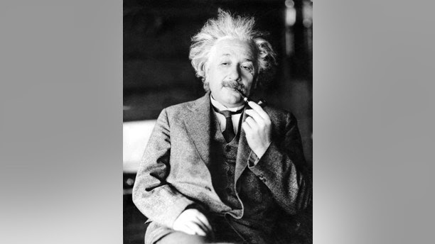 FILE - This undated file photo shows legendary phys   icist Dr. Albert Einstein, author of the theory of Relativity. Einstein's handwritten not e to a bellboy while traveling in Japan in 1922 fetched $1.3 million at a Jerusalem auction, The Winner auction house said, Tuesday, Oct. 24, 2017. (AP Photo/File)