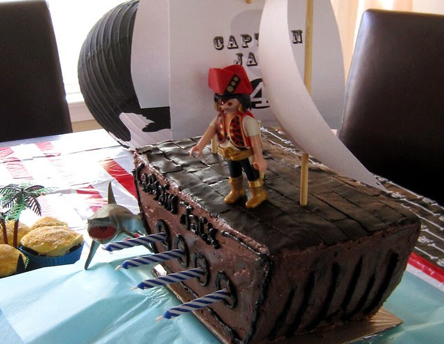 Pirate Ship Birthday Cake Planks Homemade - web