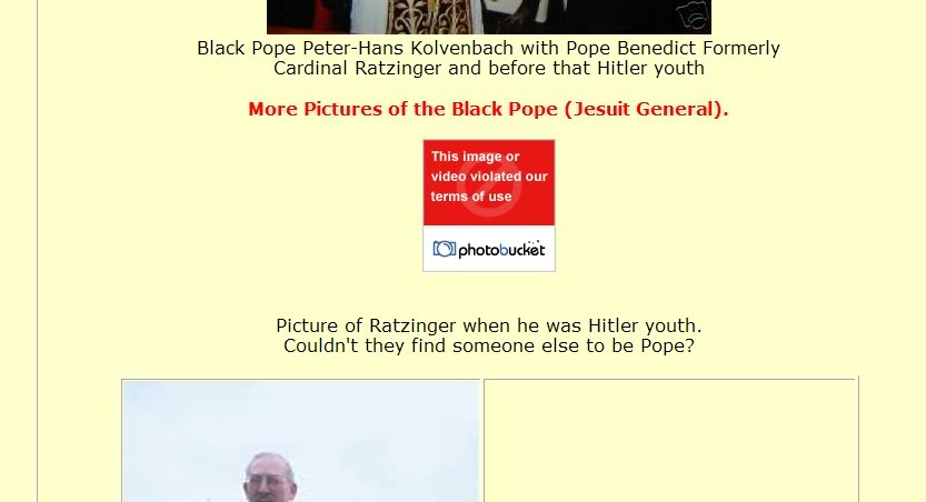photobucket covers up vatican catholic nazi war crimes and censors their censorship
