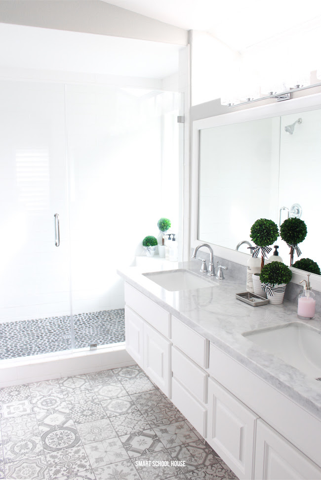 Gray and White Bathroom - Smart School House